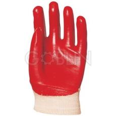 Euro Protection PVC light piros, szellõzõ hátú, gazdaságos védõkesztyû, 10 pár