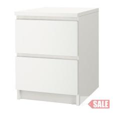 2-fiókos szekrény, fehér C SALE PARTNER kerti bútor