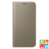 Samsung Galaxy S7 bőr book cover tok, Arany