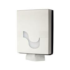 MEGAMINI Hajtogatott kéztörlő adagoló, fehér higiéniai papíráru