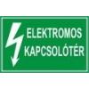 Elektromos kapcsolótér (TÁBLA)