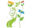 Tavaszi virágok gerbera matrica
