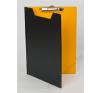 PANTA PLAST Felírótábla, fedeles, A4, PANTAPLAST, fekete-sárga (INP4003801) felírótábla