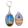 Budapest ovális kulcstartó