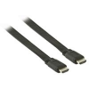 Valueline 7,5m HDMI - HDMI with Eth. lapos kábel, fekete