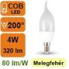 LED lámpa E14 (4Watt/200°) Láng - meleg fehér