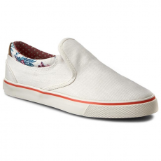 Wrangler Félcipő WRANGLER - Icon Slip On Cancas WL161513 Off White 98
