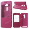 Notesz / flip tok - MAGENTA - oldalra nyíló ablakos flip cover, hívószámkijelzõ kivágás, asztali tartó funkció, rejtett mágneses - ASUS Zenfone 2 (ZE500CL)