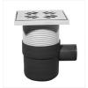 Padlószifon 1 ágú golyós büzzárral + rozsdamentes magasítóval (STY-5051)