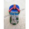 Hűtőmágnes papucs, Halászbástya és címer motívummal, Hungary-Budapest felirattal 9 cm