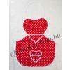 Kötény szív alakú piros pöttyös 60 cm
