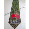 Nyakkendő traktor mintával, Paraszt felirattal