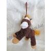 Plüss barna ló akasztóval, 18 cm