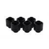 AlphaCool Eiszapfen 16 / 10mm szorítógyûrûs csatlakozó G1 / 4 - Deep Black Sixpack