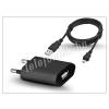 Univerzális Univerzális USB hálózati töltő adapter + micro USB töltőkábel - 5V/1A - black