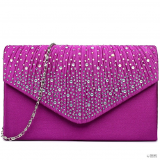 LY1682 - Miss Lulu London Structupirosgyémánt pöttyded Envelope Táska Clutch táska lila