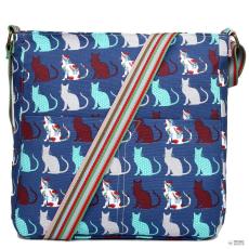 L1104CT - Miss Lulu London szögletes táska Cat Navy