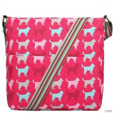 L1104NDG - Miss Lulu London szögletes táska Dog Plum
