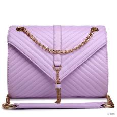 E1635 - Miss Lulu London Quilted Lánc válltáska táska lila
