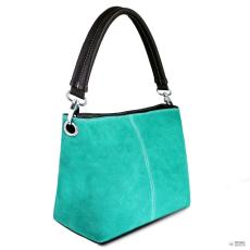 E1403 - Miss Lulu London Suede egy szíj kézi táska Turquoise