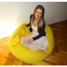 Sárga XXL szövet babzsákfotel bútor