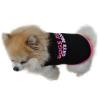 Kutyaruha: fekete-rózsaszín mintás kutyatrikó