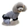 Kutyaruha: csíkos, fodros nyári kutyapóló