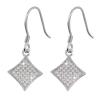 Ezüst fülbevaló cirkóniával (ES715)