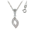 Ezüst nyaklánc cirkóniával (ES1087) 45 cm