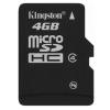 Memóriakártya, microSDHC, 4GB, Class 4, Kingston