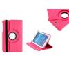 Samsung Galaxy Tab 3 7.0 SM-T210 / P3200 mappa tok, bőrtok, elforgatható (360°) pink