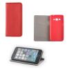 Apple iPhone 6 / 6S, Oldalra nyíló tok, stand, Smart Magnet, piros