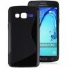 Samsung Galaxy On5 SM-G550, TPU szilikon tok, S-Line, fekete