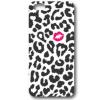 LG G4c H525N, TPU szilikon tok, csók, fekete folt minta, fehér, No.32