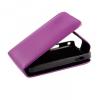SonyEricsson Xperia Neo / Neo V, Lenyitható bőrtok, ProFlip, felfelé nyíló - kinyitható, lila