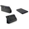 Huawei Ideos S7 Slim, bőrtok, mappa tok, fekete