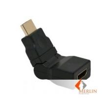 HDMI/M to HDMI/F 180° forg/dönt. adapter audió/videó kellék, kábel és adapter