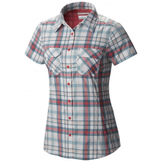 Columbia Saturday Trail III Plaid Ss Shirt Ing,blúz D (1579821-o_673-Bright Germanium)