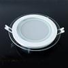 Üveg keretes LED panel (kör) - 12 Watt - meleg fényű