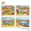 Learning Resources Közlekedés puzzle fából - 4 db