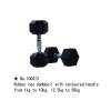 m-tech (H) XDB-6101 Egykezes fix kézisúlyzó, hatszögletű, krómozott, gumborítású 22,5kg