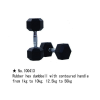m-tech (H) XDB-6101 Egykezes fix kézisúlyzó, hatszögletű, krómozott, gumborítású 25kg
