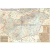 Stiefel Magyarország rovásírás térképe (Rovásírás ABC-vel)