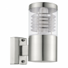 EGLO 93269 outdoor-wall-lamp 1-light E27 15W, stainless-steel, plastic shade clear