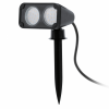 EGLO 93385 outdoor-LED-earth-spear-lamp 2-light GU10-LED 3W, black - IP44