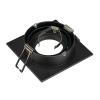 Schrack Technik SHRACK TECHNIK NEW TRIA I GU10 downlight, square, matt black, max. 50W LI113491