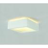 Schrack Technik Menny. lámpatest, GL 104 E27, négyzet, fehér gipsz, max. 15W- LI148002