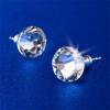 . Fülbevaló, lapos foglalatú,Crystals from SWAROVSKI®, 8 mm, natúr fehér