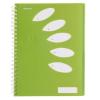 """REXEL Spirálfüzet, A4, vonalas, 125 lap, 5 részes, REXEL """"Joy"""", zöld"""