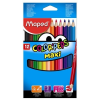 """MAPED Színes ceruza készlet, háromszögletű, vastag, MAPED """"Color\´Peps Maxi"""", 12 különböző szín"""